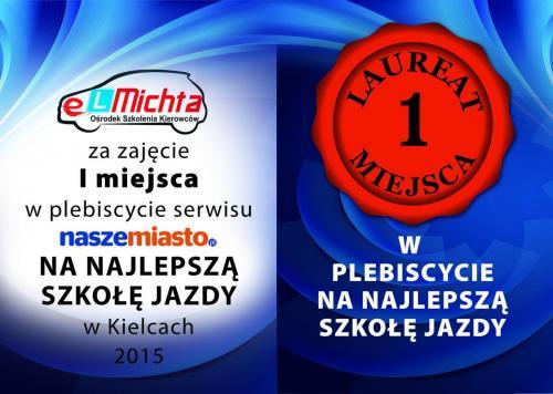 Nagrody ElMichta - szkoła jazdy Kielce